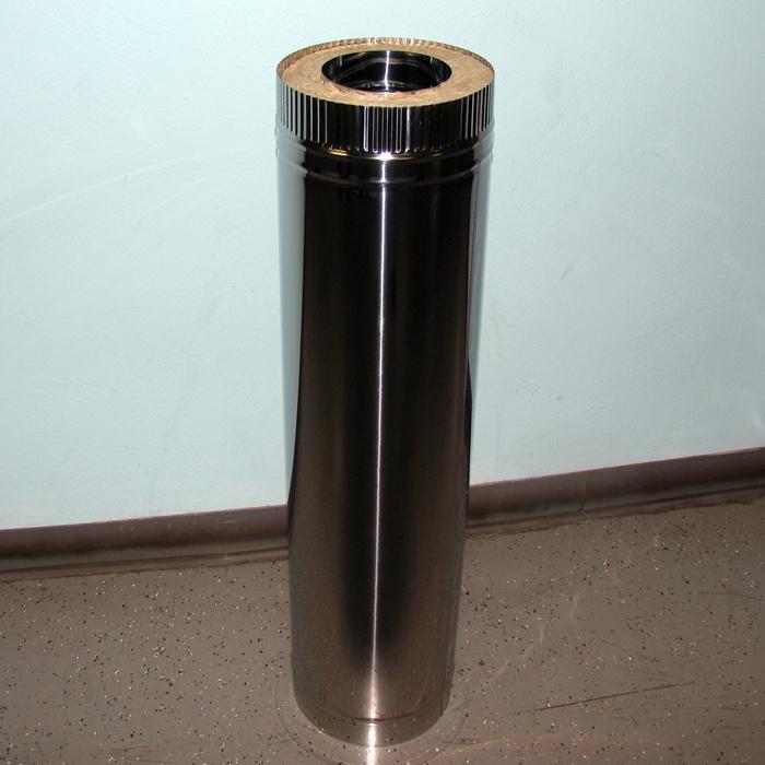 Труба двухстенная из нержавеющей стали с изоляцией 50мм